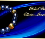 Global Blue Sapphire - Citrine Mantra Bracelet- Charms and Crystals by Joy Lim